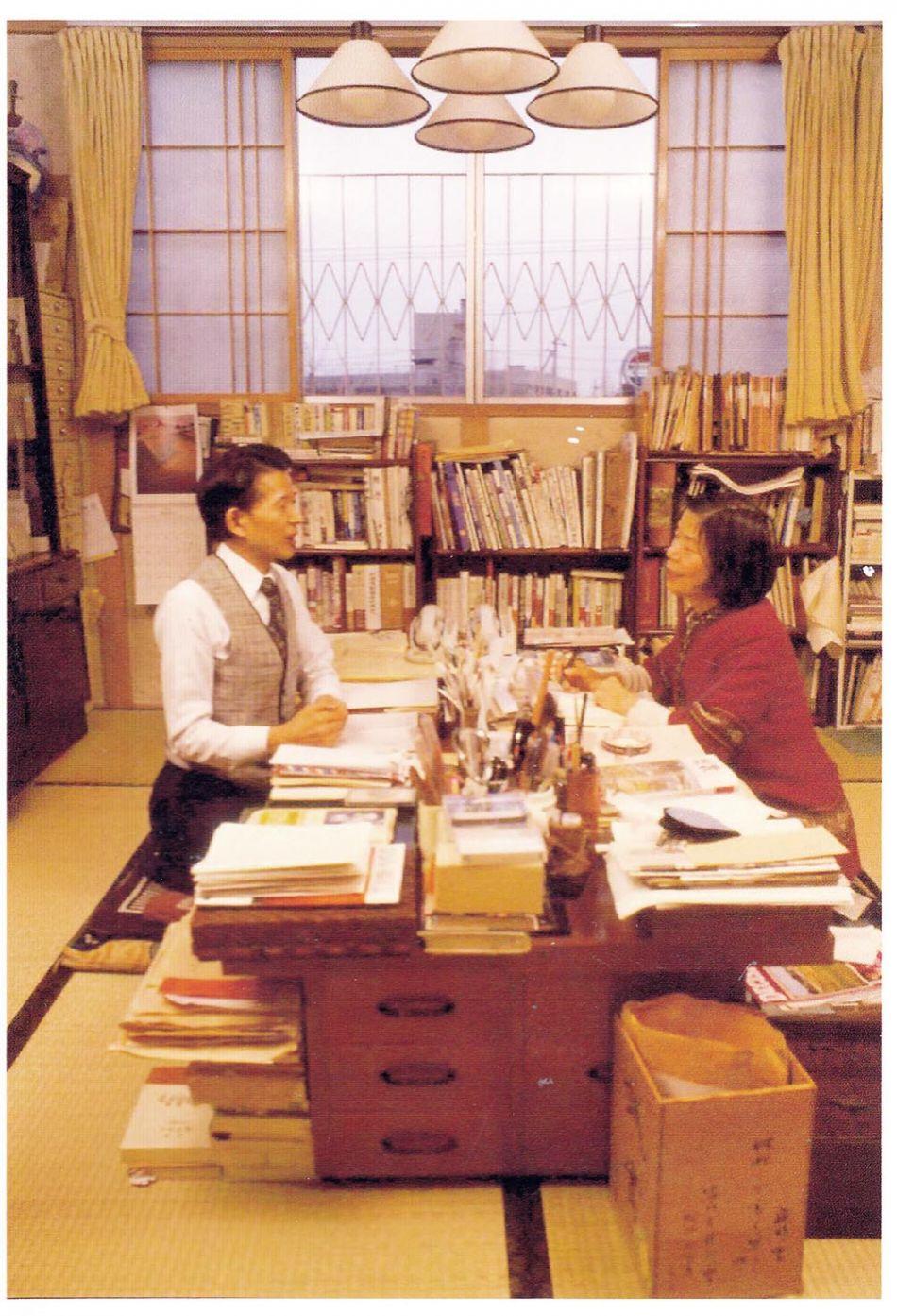 三浦綾子・光世夫妻の書斎