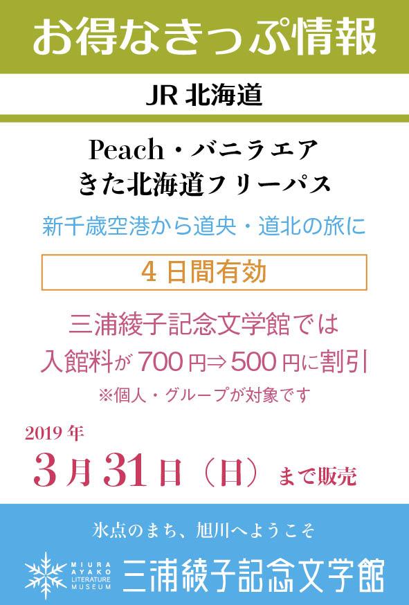 お得なきっぷ JR北海道 きた北海道フリーパス